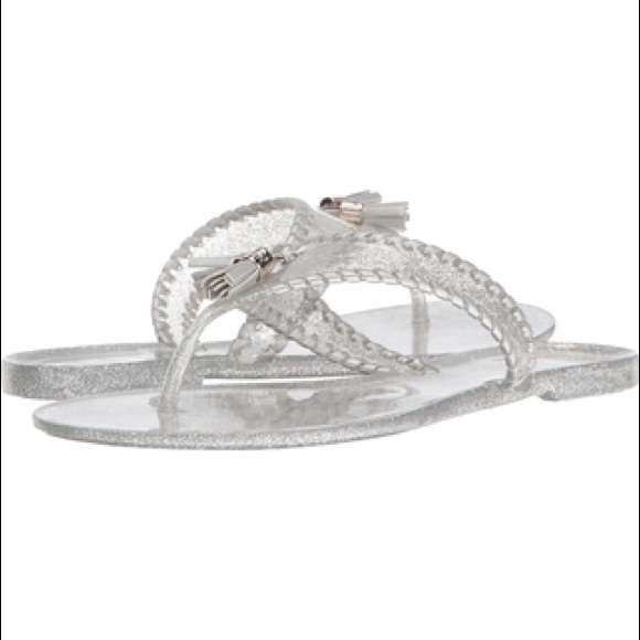 463ae212bf3 Jack Rogers Sparkle Alana Jelly Sandals Silver 11